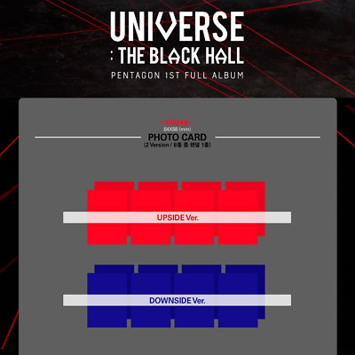 PENTAGON UNIVERSE : THE BLACK HALL 1st Full [Photo Card] Pre-order VER.