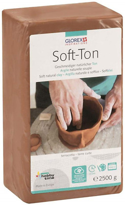 Glorex 68075337soft clay terracotta Air Hardening Casting or Combustible