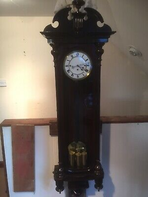 stunning antique mahogany grand sonnerie vienna wall clock c1880 REDUCED PRICE.