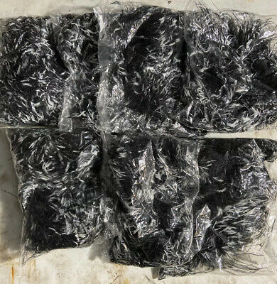 7 Black & White 2ply Ostrich Feather Boas (6' / 2 Yards Each) Unopened & Unused