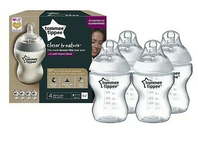 Tommee tippee bottles 260ml/9floz X 4 Closer to nature slow flow anti colic 0m+