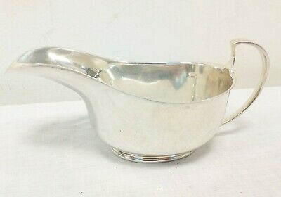 Vintage Sterling Silver Sauce Boat Gravy Boat - Martin Hall & Co Ltd - Sheffield