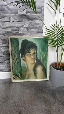 "J H Lynch ""TINA"" Tretchikoff 60s retro vintage print in original frame FREE POST"