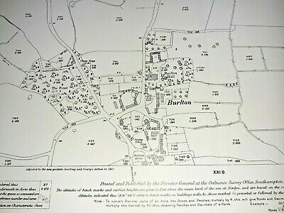 OLD ORDNANCE  SURVEY MAP SHREWSBURY NORTH SHROPSHIRE 1900 Sheet 34.07 New