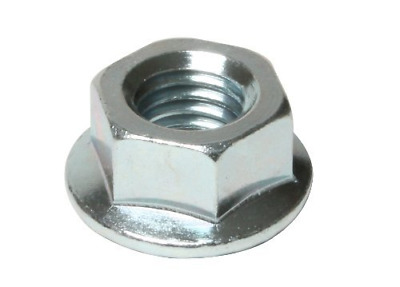 Metric Hexagon Serrated Flange Nuts (ZINC & Clear) M10 (Pack of 50)
