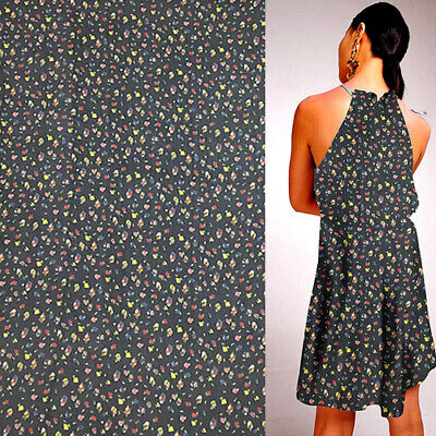 Floral print on yellow bottom silk georgette gauze fabric with gold line,SCG460