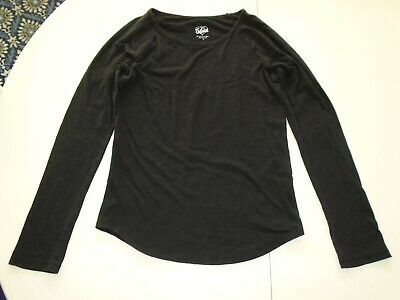 JUSTICE Girls size 14 Essential BLACK Tee