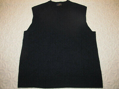 346 Brooks Brothers Scottish 100% Lambs Wool Vest Navy Blue Sweater Mens Size S