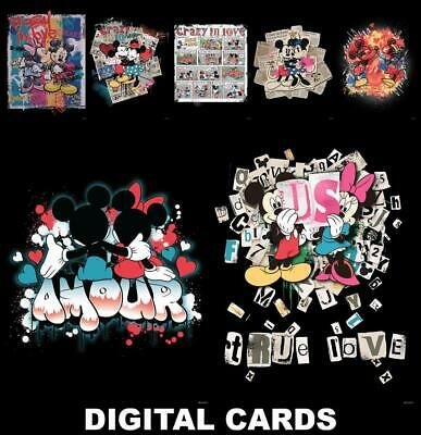 Topps Disney Collect CRAZY IN LOVE [7 CARD SET] Amour/Comic/True Love+++