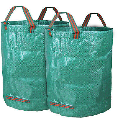 2 x Round Garden Waste Bags - Heavy Duty Reinforced Refuse Sacks with Handles UK