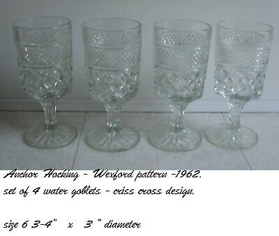 Anchor Hocking Wexford Water Goblets Set