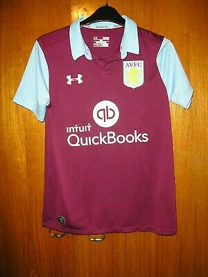 Aston Villa Football Shirt Under Armour Home Shirt 2016/17 size YLG age 11/12