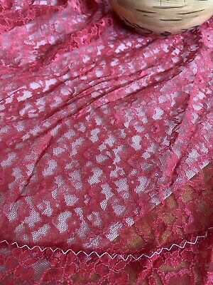 Vintage Handmade Red Floral Lace Tablecloth 💖