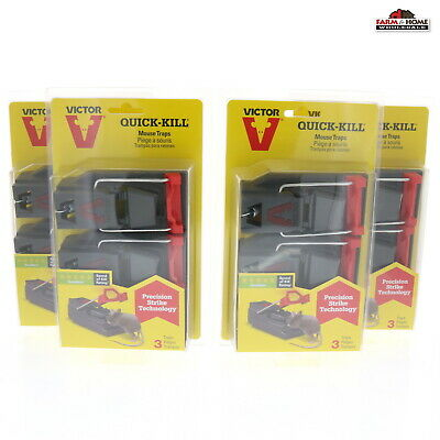 12 Victor Quick Kill Mouse Trap ~ New