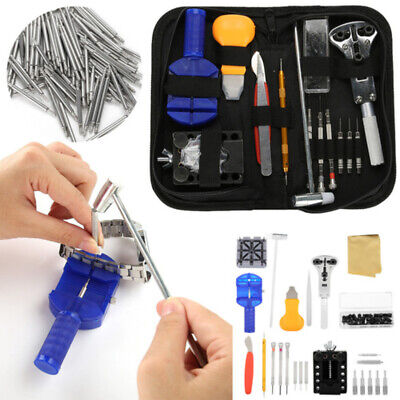 19pcs Watch Battery Change Repair Tool Band Pin Remover Back Case Opener Kit US