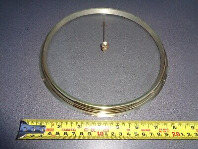 "Aneroid Barometer Brass Bezel & Thick Bevel Edge Glass For 8"" Dial"