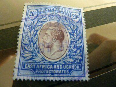 British Commonwealth: East Africa And Uganda Gv 20R Fiscally Used