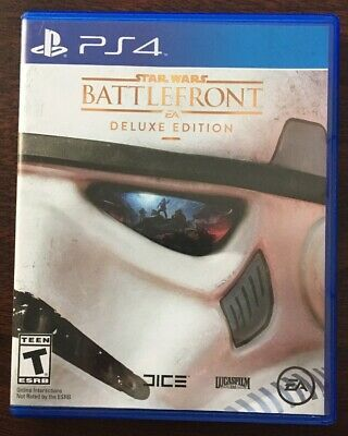 Star Wars Battlefront -- Deluxe Edition (Sony PlayStation 4, 2015) Complete PS4