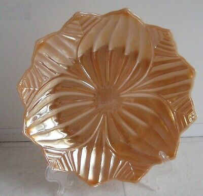 Fire King Peach Luster   Leaf And Blossom Plate