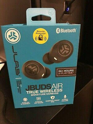 JLAB JBuds Air True Wireless Bluetooth Earbuds and Charging Case Black 24 hours