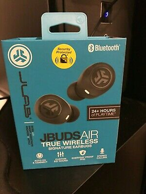 JLAB JBuds Air True Wireless Bluetooth Earbuds + Charging Case Black 24 hours