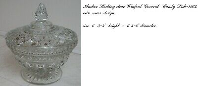 anchor hocking  wexford covered candy dish