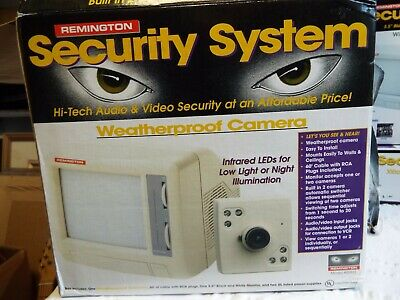 Remington Weatherproof Security Camera and Monitor System - #00827 NOS