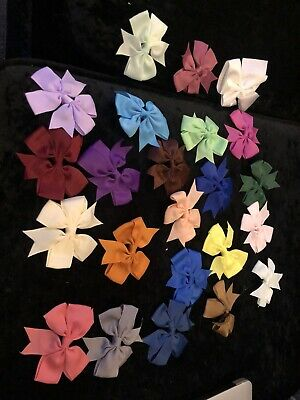 23 BOWS 3 Inch BOUTIQUE HAIR CLIP PIN ALLIGATOR GROSGRAIN RIBBON BOW Girls Multi