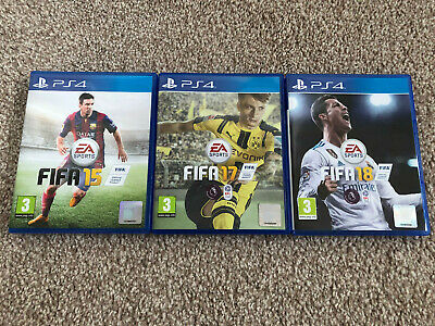 PS4 FIFA 15, FIFA 17 & FIFA 18 - Standard Edition's (Sony PlayStation 4)