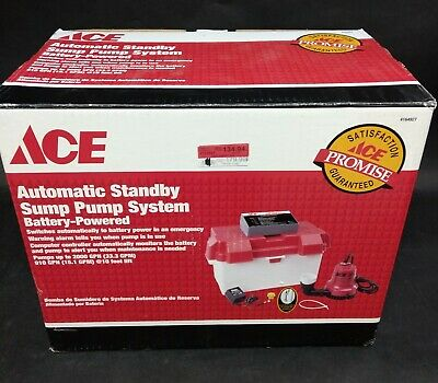 ACE Automatic Standby Sump Pump System Battery Powered 4164927