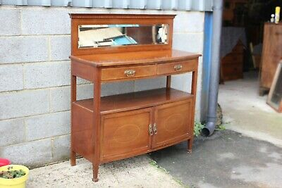 A Lovely Victorian Mahogany and Satinwood Inlaid Sideboard Buffet