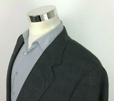 Canali Gray Glen Plaid Blazer Sport Coat 42 L All Wool 2 Button Jacket Italy