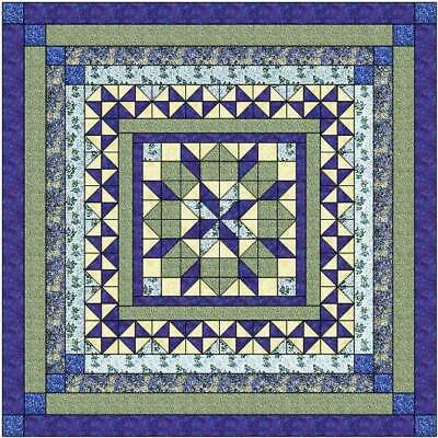 Quilt Kit Twinkling Bluebell/Precut Ready to Sew/Beautiful