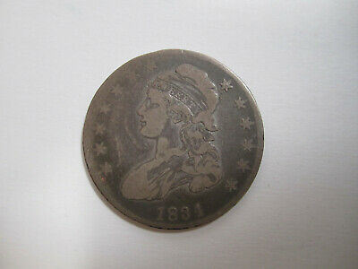 1834 nice high grade capped bust half dollar AS SHOWN (letter edge) *5704