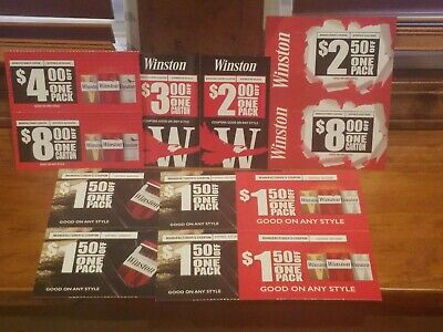 12 Winston Cigarette Coupons  (exp Feb, Mar & Apr ) $36.50 in Total Savings