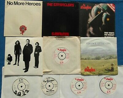 "Job Lot of 10 The Stranglers 7"" Vinyl Single Records - 5 in Picture Covers"
