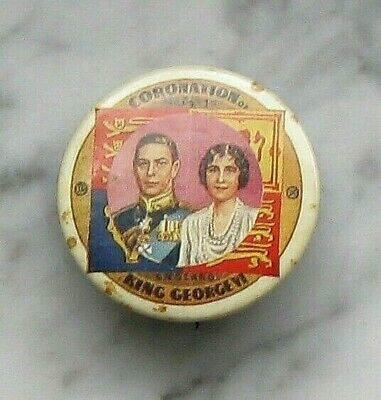 King George VI and Queen Elizabeth Coronation Pinback Button 1937