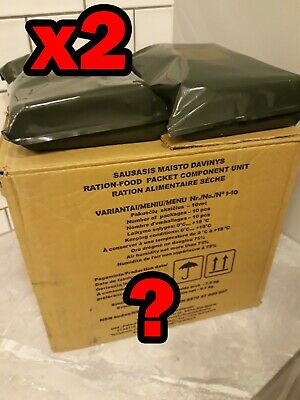 x2 RANDOM Lithuanian MRE Army military ration meal ready to eat 2021