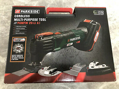 Parkside Cordless Multi-Purpose Tool 20V WITH BATTERY AND CHARGER And TOOLS