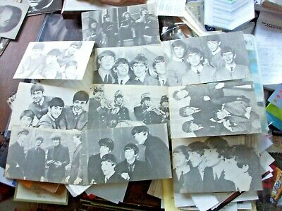 9 Original 1960's Beatles Exhibit Supply Mutoacope Vending Cards NOS all Differe