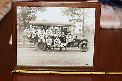 Vintage Framed Photo of White Baseball Team