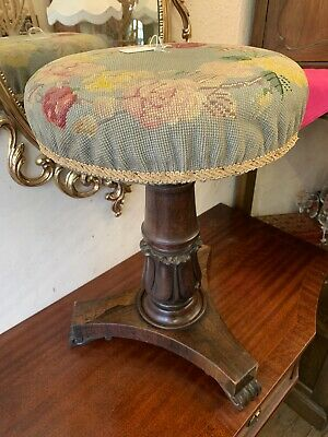 Victorian Circular Top Piano Stool