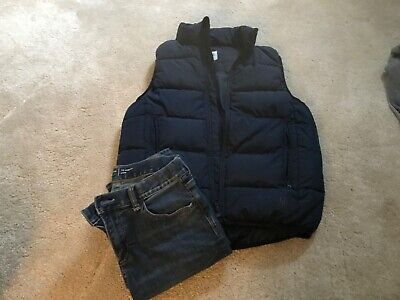 boys Navy GAP jeans AGE 12 and puff-a Gillet age regular