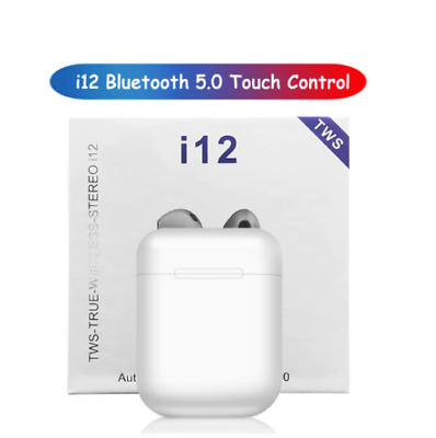 i12 Tws Bluetooth Earphone Wireless Earbuds Hands Free Business Touch Key