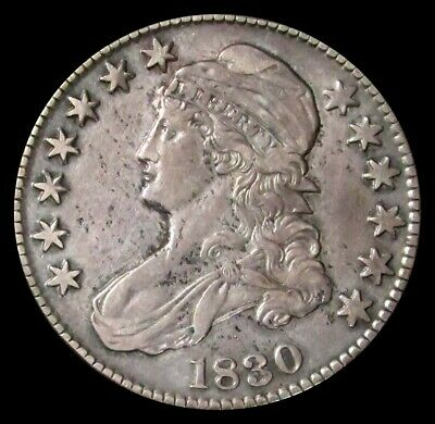 1830 Us Capped Bust Half Dollar 50C Coin Extra Fine
