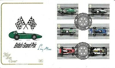 Cotswold Covers Silverstone British Grand Prix Fdc Hand Signed Stirling Moss