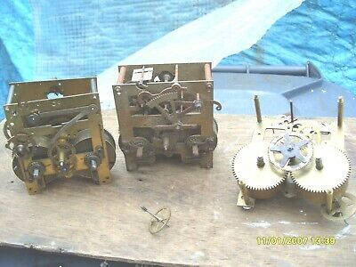 Clock Parts 3  Striking  Movement Spares  Only  Good Springs