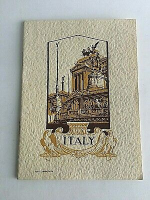 """Vintage 1960's Visitor's Guide Map Italy Tourism  7.5"""" X 5.5"""" 32 Pages Ferrovie"""