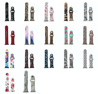 Blekon Collections Women's Stylish Silicone Printed Wrist Watch Band Compatible