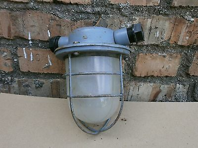 Industrial Light Ceiling Fixtures Explosion Proof Industrial Light Caged Vintage
